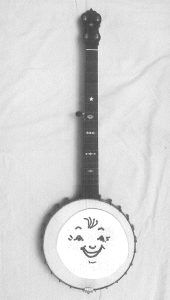 The Original Banjo and Sketch for our Smiley Banjo Logo