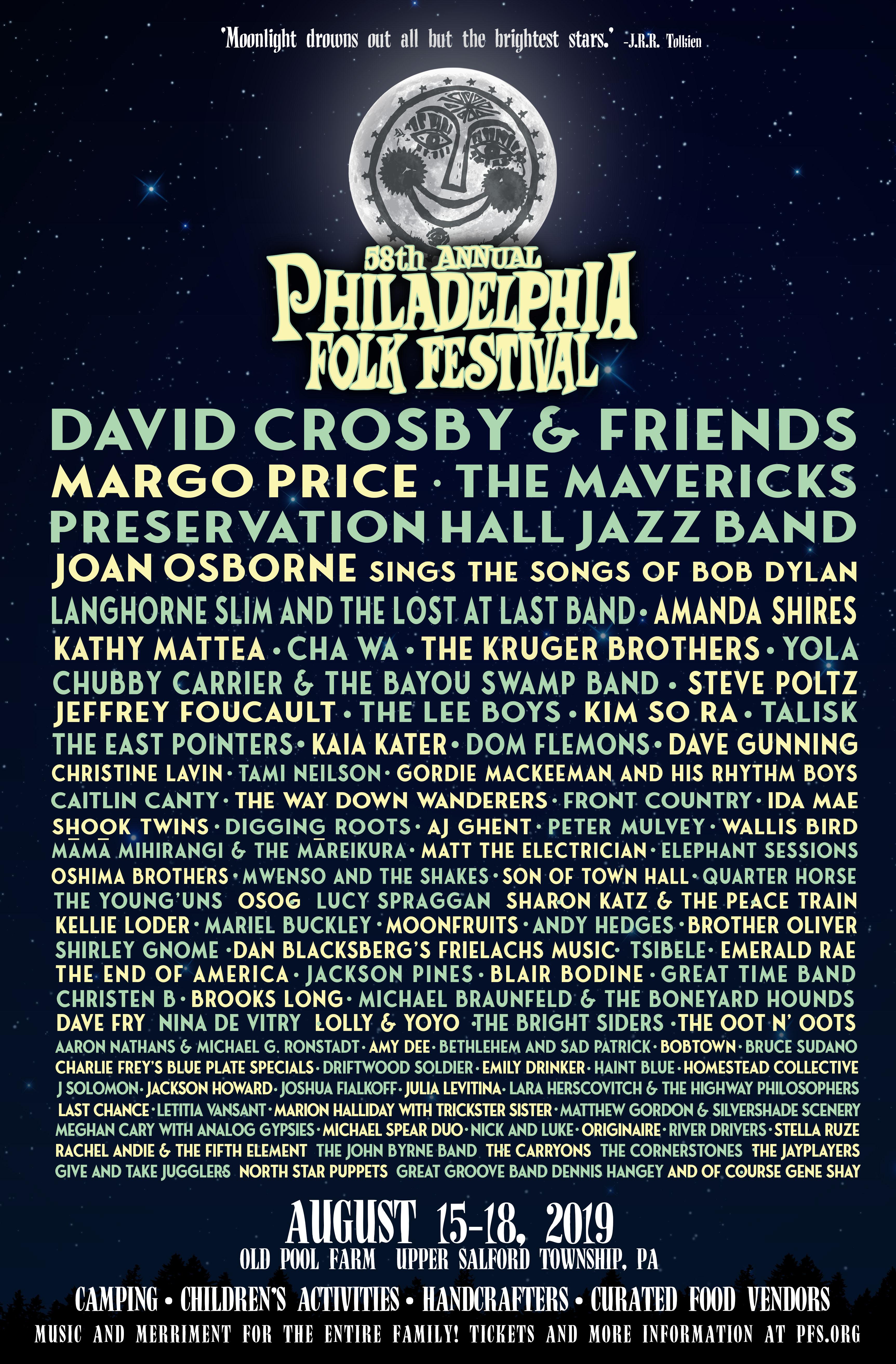 Philadelphia Folk Festival 2020.58th Philadelphia Folk Festival Lineup Philadelphia