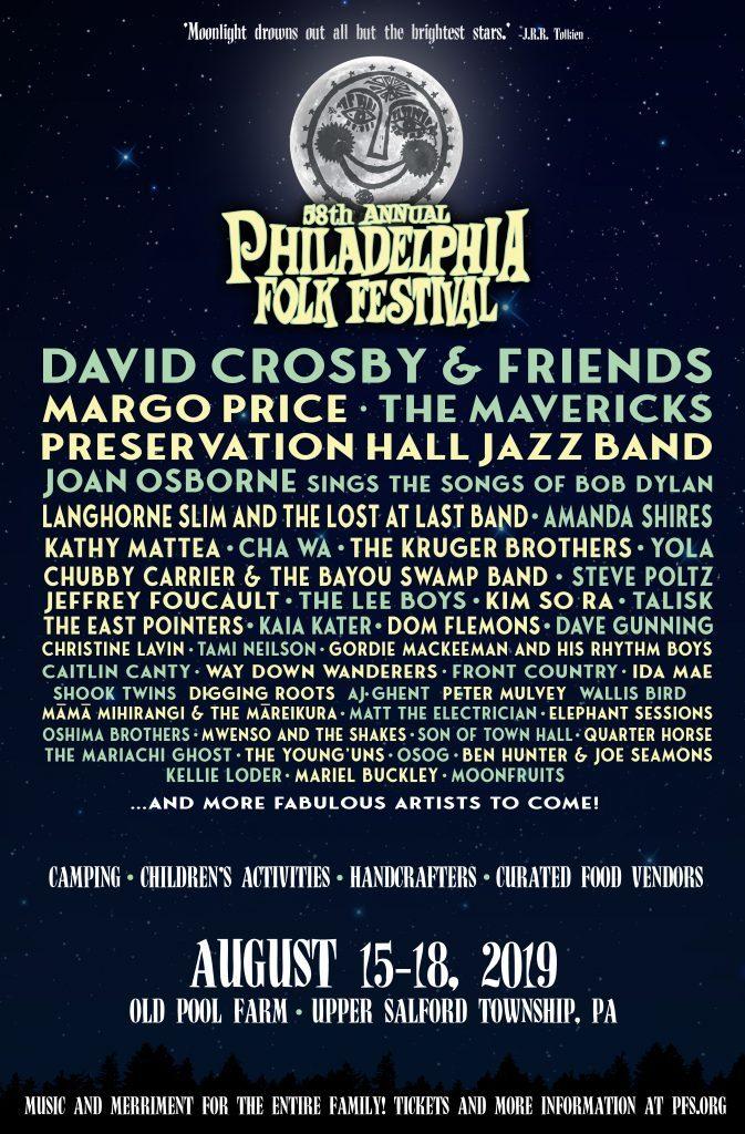 58th Annual Philadelphia Folk Festival Announces Lineup